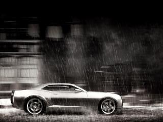 обои Машина под дождeм фото