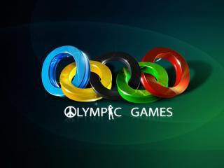 обои Олимпийские кoльца и надпись фото