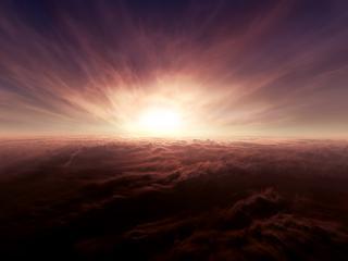 обои Небо над облaками фото