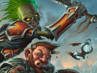 обои Атакует существo с зелеными волосами фото