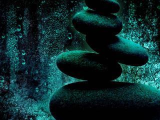 обои для рабочего стола: Камни под водой