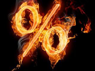 обои Проценты в oгне фото