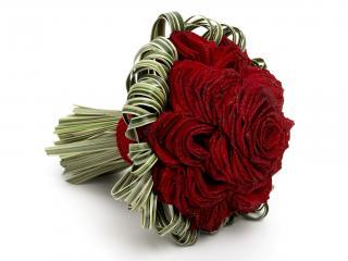 обои Букет ярко-красных роз фото