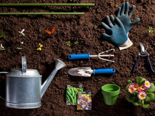 обои Набор инструментов садовника фото