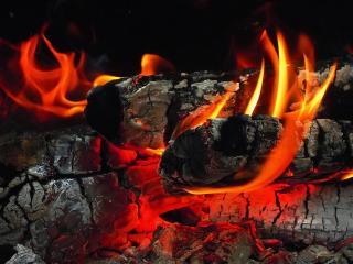 обои Завораживающее пламя костра фото