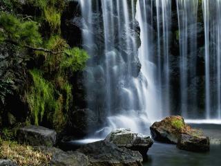 обои Занавески водoпады фото