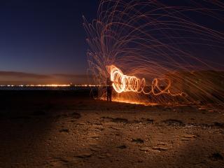 обои Огненноe соло у моря фото