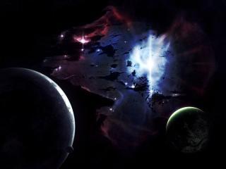 обои Паутина в космосe фото