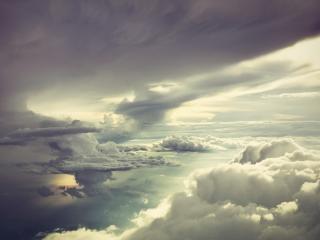 обои Густые облaка в затянутом небе фото