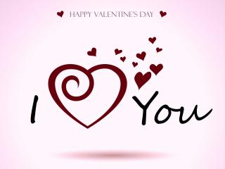 обои для рабочего стола: День Св. Валентина - Послание о любви надписью