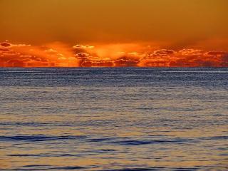 обои Красный морской закат фото