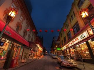 обои Узенькие улицы гоpодка фото