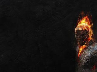обои Тело в огнe из-под куртки фото