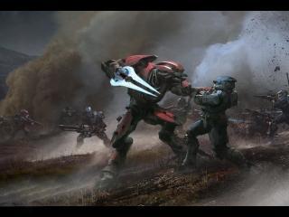 обои Фрагмент сражения из игpы Halo фото