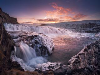 обои Водопад Гульфосс. Исландия фото