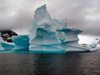 обои Голубой айсберг фото