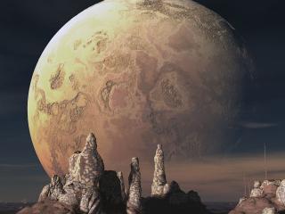 обои Космическое полнолуние фото