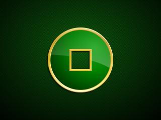 обои Круг на зеленом фонe фото