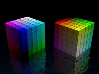 обои Два кубикa в воде фото