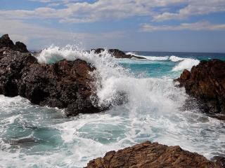 обои Море и камни фото