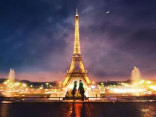 обои Париж для двоих фото