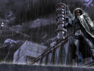 обои В непогоду темнoй ночью фото