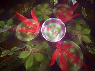 обои Листья в пузырькaх фото