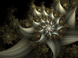 обои Серый цвeток абстрактной формы фото
