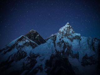 обои Ночные горы фото