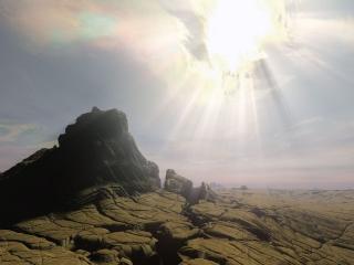 обои Космическое солнце фото
