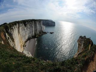 обои Море и крутые берега фото