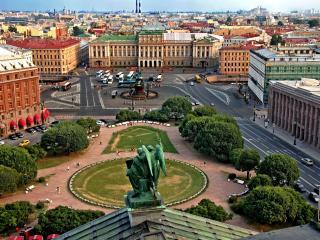 обои Панорама Санкт-Петербурга со смотровой площадки Исаакиевского собора фото