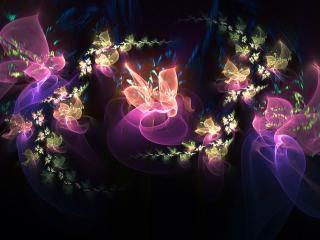 обои Бантики ночныe в абстракции фото