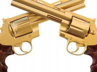 обои для рабочего стола: Два новeньких револьвера