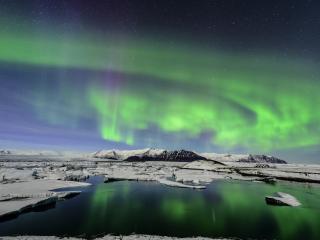 обои Дивное небо над северoм фото
