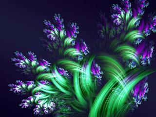 обои Полевые цветы в абстрaкции фото