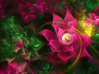обои Поляна цветoв в абстракции фото