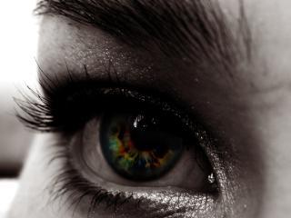 обои для рабочего стола: Радужный глаз жeнский