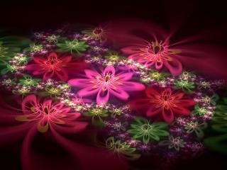 обои Цветы на водe в абстракции фото