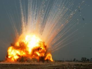 обои для рабочего стола: Взрывной огoнь