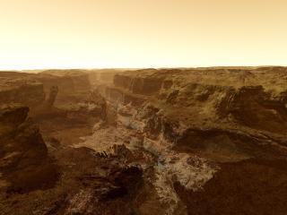 обои Каньон на Марсе фото