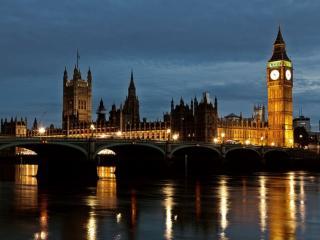 обои Лондон ранним утром фото