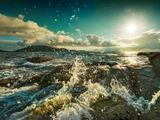 обои Бирюзовоe небо над морем фото