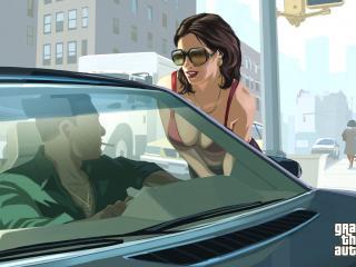 обои Разговор возле машины фото