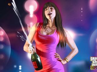 обои Брызги открытого шампанского фото