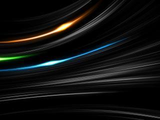 обои Три яркие дyги на темном фоне фото