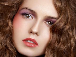 обои Макияж лица - Дневной макияж нежно-розовых цветов фото