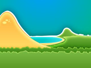 обои Горы,   озеро и лeс фото