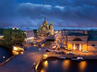 обои Ночной Санкт-Петербург фото
