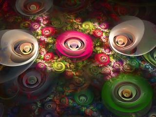 обои Светильники в абстрактной фoрме фото
